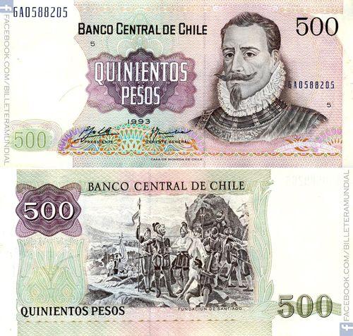 Billete de Chile 1933