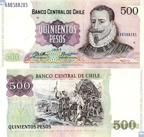 Billete de Chile 1933 - 1 peso // #banknote