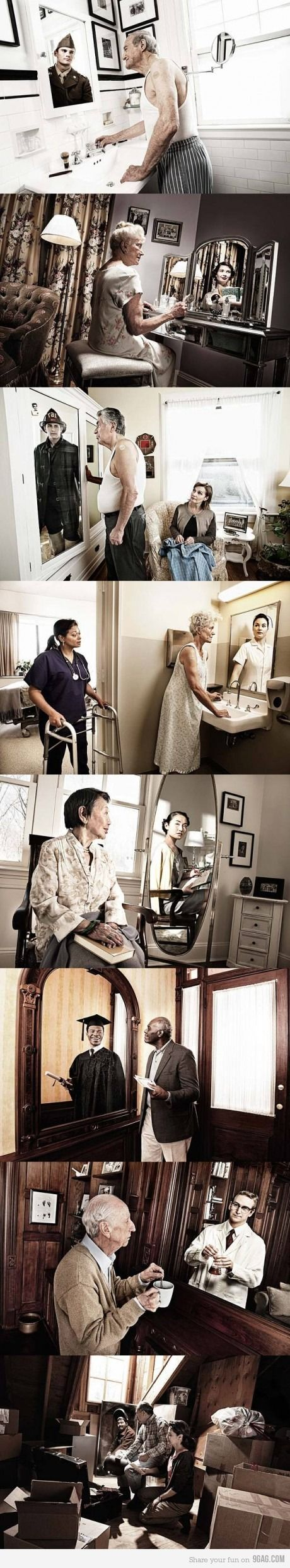 "Novartis ""Reflections"" Campaign. Sums up why I think oral history is so interesting and important"