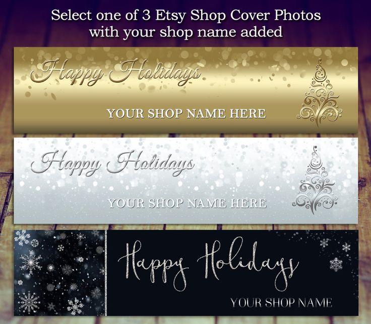 Etsy Shop Cover Photo, Etsy Shop Banner, Shop Christmas Banner, Holiday Banner, Etsy Christmas Banner, Holiday Shop Cover, Store Graphics by LittlePrintsOttawa on Etsy