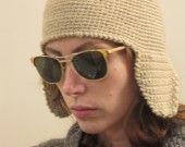 Aviator hat with flap by giovanna-cargnelli on ALittleMarket cappello di lana modello aviatore : Cappelli, berretti di giovanna-cargnelli su ALittleMarket