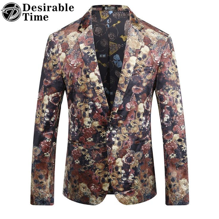 >> Click to Buy << Mens Red Velvet Printed Blazer Slim Fit Style M-3XL Autumn New Fashion Casual Prom Blazers for Men DT093 #Affiliate