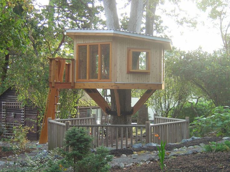 46 best Tree house images on Pinterest Tree house plans Awesome