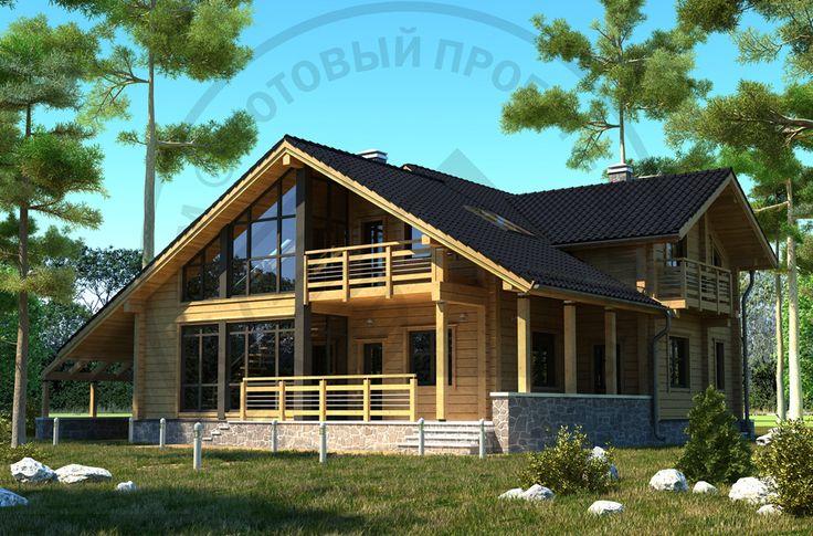 homeplans.ru - Коллекция EcoBuild. Современный дом из клееного бруса - снаружи меньше, чем изнутри