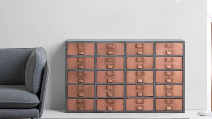 "OK – hands up all those who've got at least one drawer full of little odds and ends?  Most of us have, but not everyone stores them with such style.  Not only is this sideboard completely unique but it also lends a lovely vintage feel – and by ""unique"", we mean exactly that. These copper sideboards are hand welded meaning that you'll never get two the same … so what better way to store those bits and bobs than in true exclusive style?"