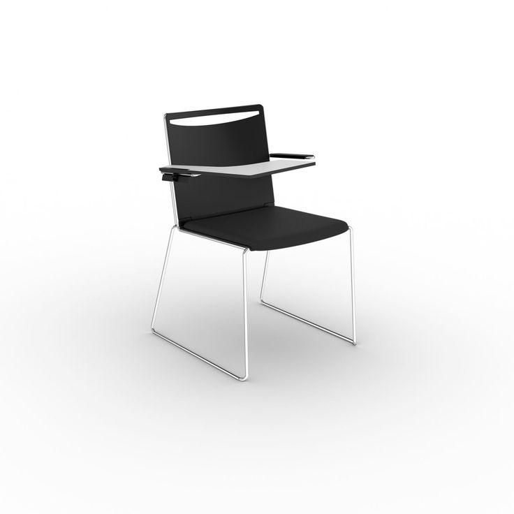 Стулья KLIKIT для конференц-залов - новинка 2016 года! 2 модели. Спинка и сиденье - полипропилен. Цвет: белый, черный, серый. Спинка - сетка (цвет: белый, черный, серый), сиденье - полипропилен (цвет: белый, черный, серый). Безграничное штабелирование. Опора: белая стальная или хромированная рама.
