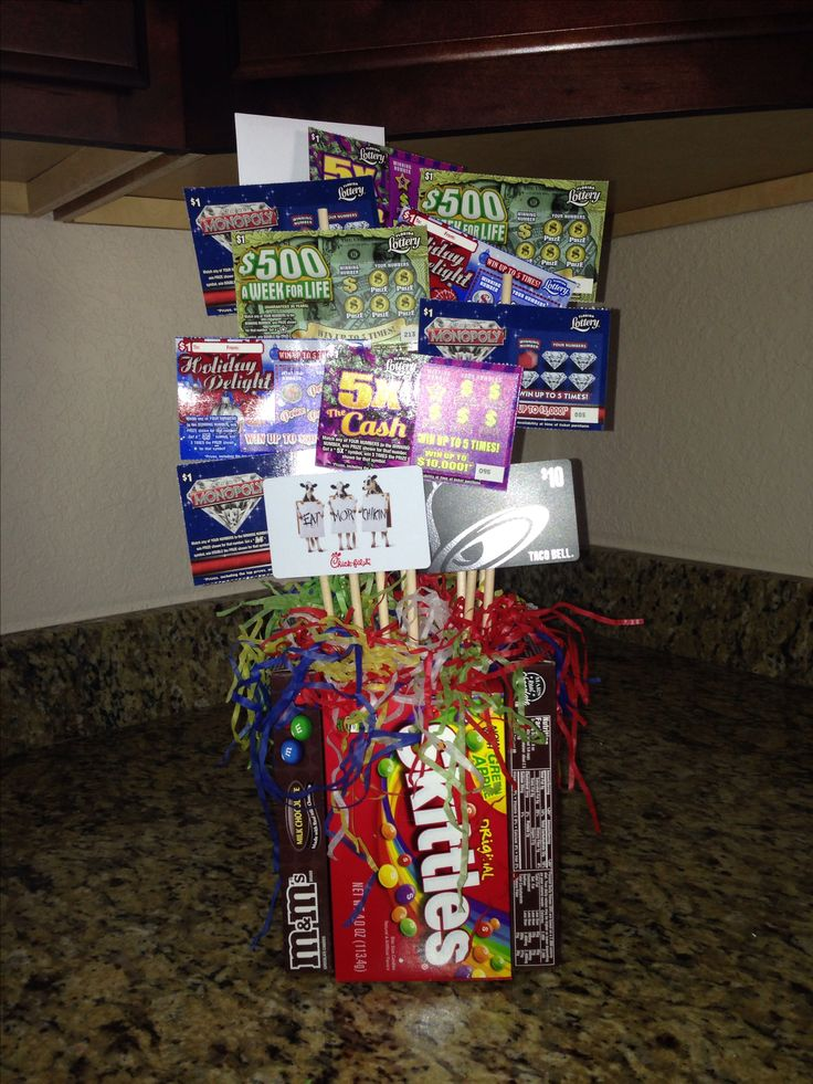 Lottery ticket bouquet for 18th birthday more