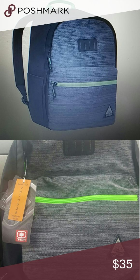 Brand new. OGIO Lewis Laptop Backpack Brand new. Grey with neon green zipper and handle. Unisex. OGIO Bags Backpacks
