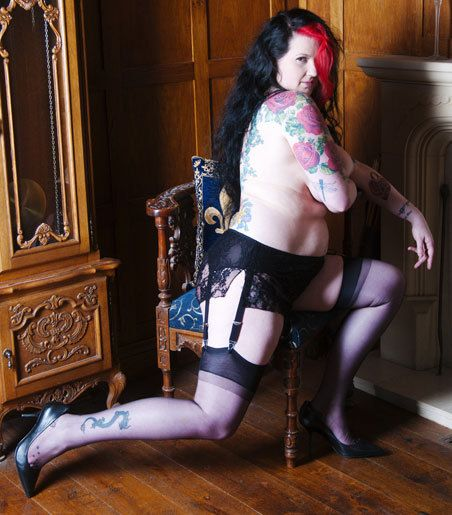 Lena  6 belt suspender Knickers in French black by RavenDreamsLtd, £48.99