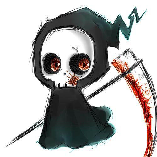 chibi grim reaper by xdoodlezxdeviantartcom on deviantart simple skull drawinggrim
