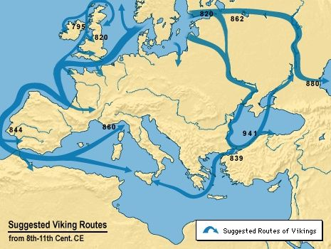 Trade: Norse traders traveled extensively throughout the known world, bringing back to the Norse lands a wide variety of trade goods. The capacity of Norse cargo ships made it possible to trade not only in high value luxury items, but also in more bulky, every-day items.