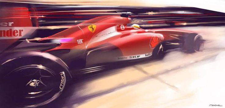 Ferrari F1 by Nikhil Mansukhani