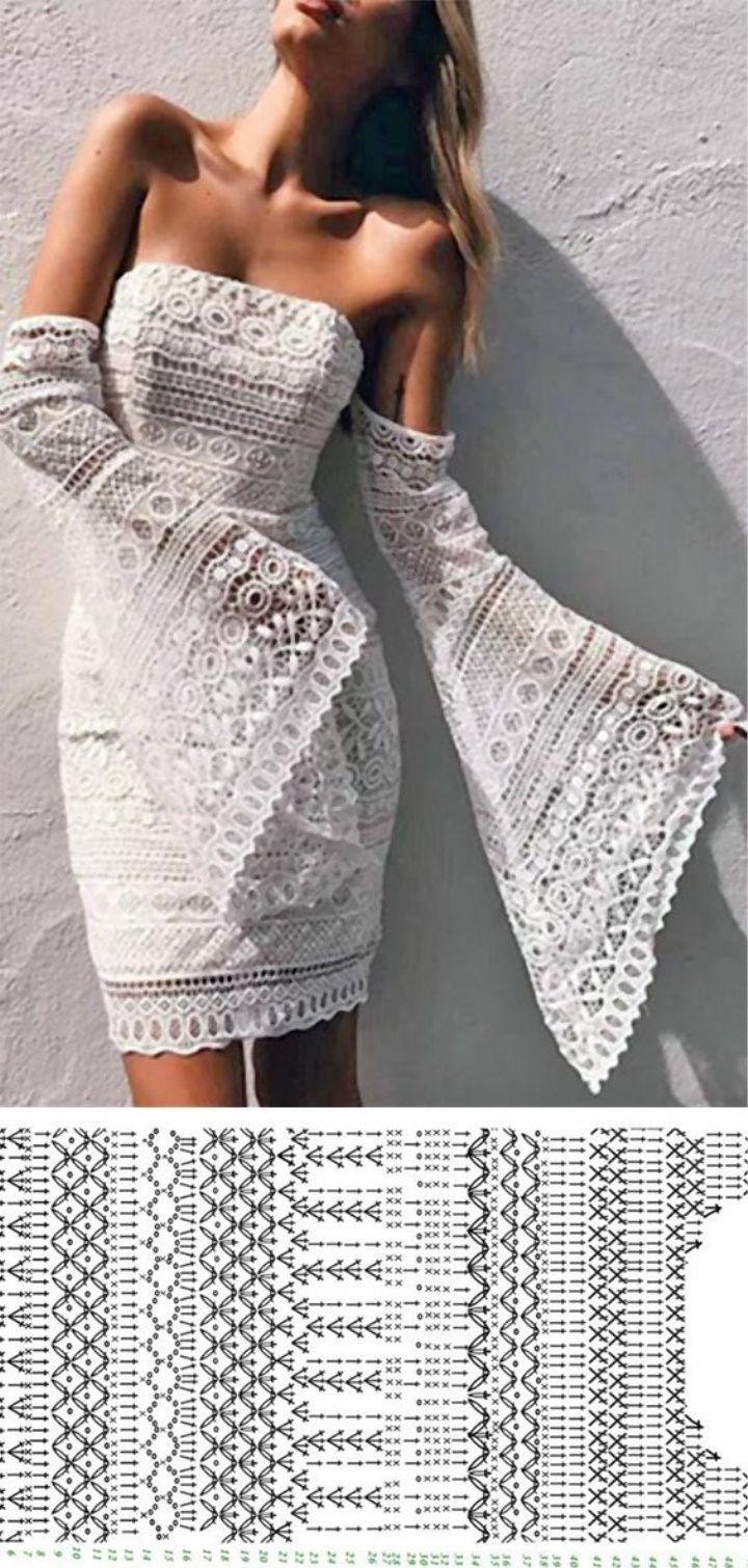 Lace Crochet Dress Pattern Antique Dress Wedding Lace Croche
