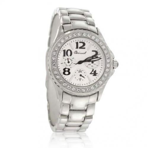 Bling Jewelry Osirock Stainless Steel CZ Classic Men`s Watch