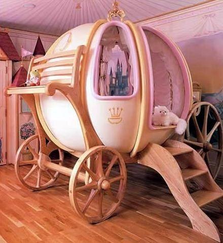 Voici mon 2ème billet présentant des chambres d'enfants originales. Après les toboggans, j'ai choisis de vous faire découvrir des lits magiques… C'est plus fort que moi, j'adore ça ! ( A vous je peux l'avouer, au fond je suis encore une petite fille… hum hum !) En effet, je reste bluffée devant tant de créativité : je ne peux qu'imaginer à quel point ma poupée serait heureuse d'en avoir une semblable. Un lit cabane, un bateau pirate ou un carrosse, le rêve pour nos minus ! Voici les pics ……