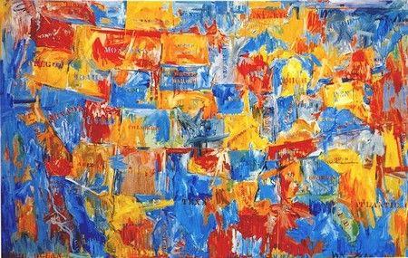 Map (1961) Jasper Johns.