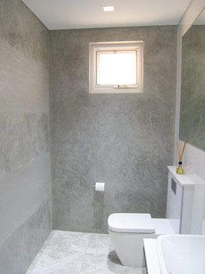 Kind Of Like This Space, But Different  Darker Concrete  White Tiled Floor  And