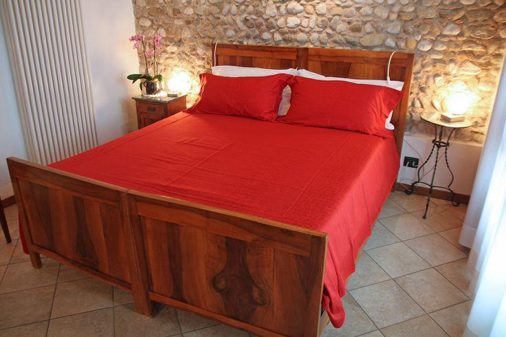 Una delle stupende camere ristrutturate del bed and breakfast Corte Alfier a Lavariano (UD)