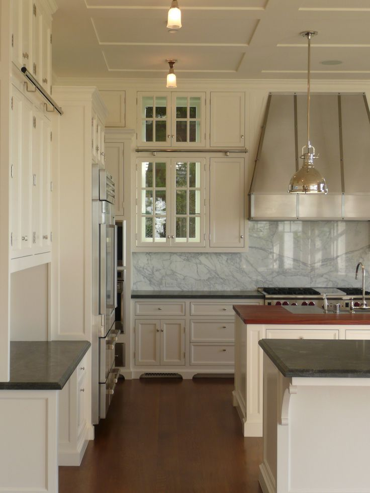 Kitchen Calcutta Marble Cabinet Colors Pointing Farrow