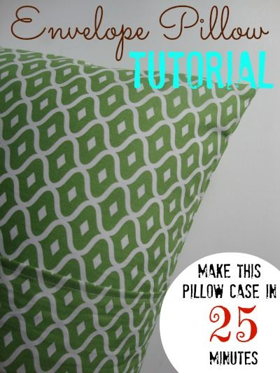 Re-cover old throw pillows to make them NEW AGAIN!  Easy TUTORIAL!  This envelope pillow can even be taken off and cleaned.