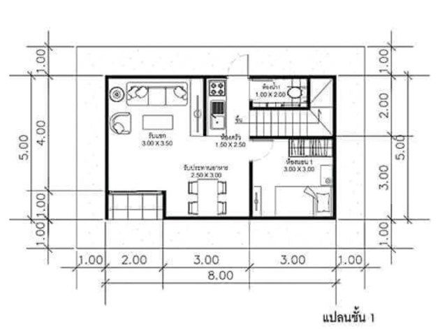 House Plans Idea 8x5m With 3 Bedrooms Sam House Plans House Plans Architectural House Plans 3 Bedroom Home Floor Plans