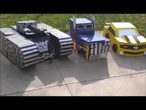 Transformer costumes! - YouTube