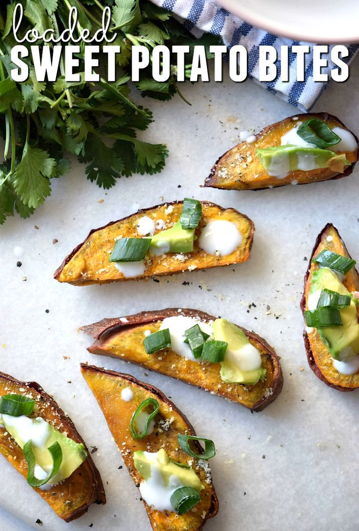 Do you love potato skins, but want a more nutritious option? These loaded sweet potato bites are lightened up yet always a hit a parties and get togethers!