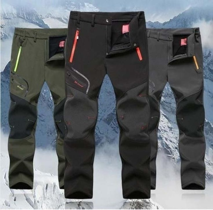 New Fashion Men's Winter Outdoor Waterproof Hiking Trousers Camping Climbing Fishing Skiing Trekking Softshell Fleece Warm Pant