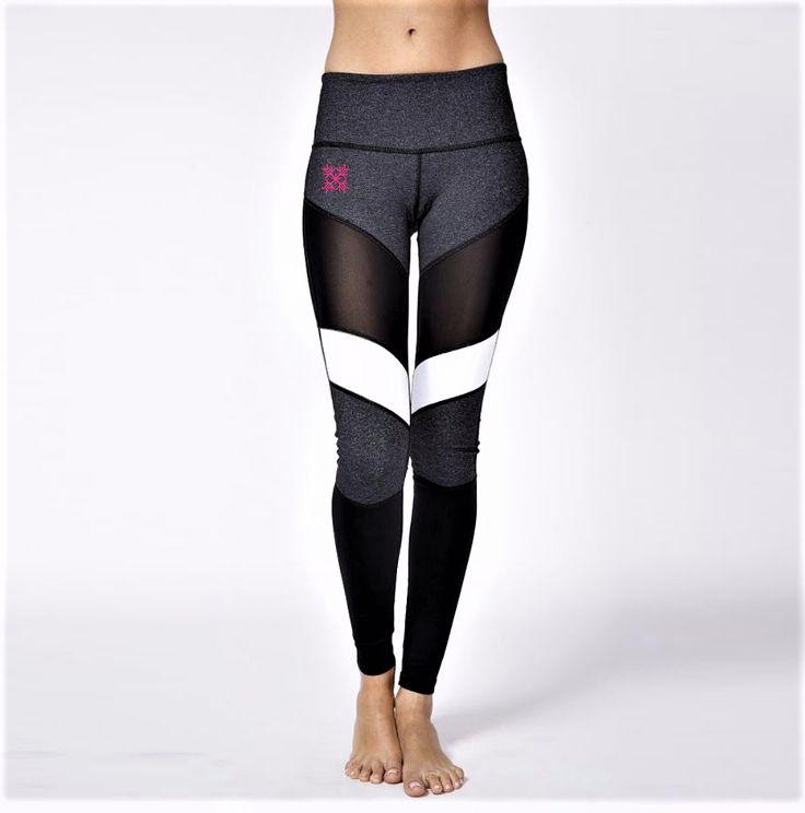10 besten Hot Black/White Mesh Fitness Leggings I C E Fitness ...