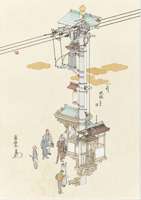 『演説電柱』2012年 個人蔵 ©YAMAGUCHI Akira, Courtesy of Mizuma Art Gallery