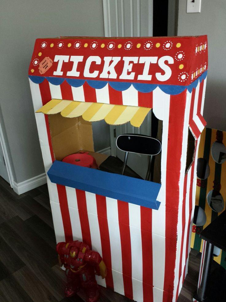 Diy Carnival Ticket Booth Diy Carnival Circus Birthday