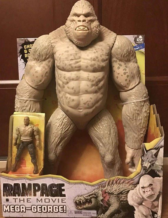 Rampage The Movie Mega George The White Gorilla Figure W The Rock Future Vintage Buddha Statue Vintage Toys Statue