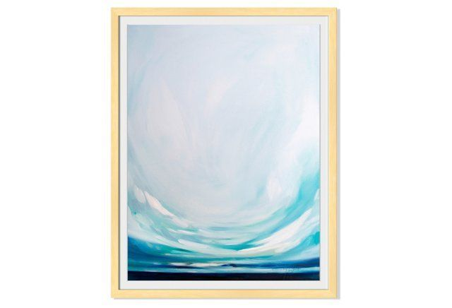 Composed with a great sense of color and depth, this landscape from Emily Jeffords is printed with exceptional quality on fine-art paper and displayed in a blonde wood frame.Emily Jeffords is an...