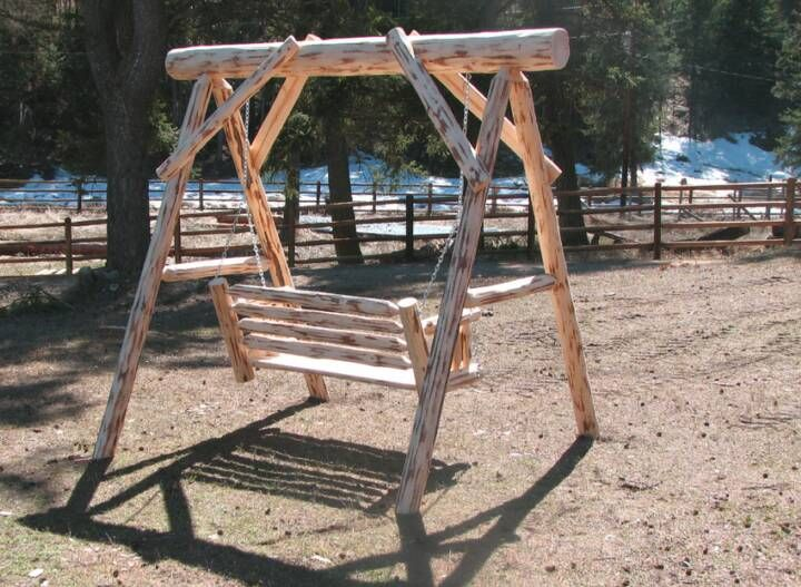 Log Pole Swings | Kilmer Creek Cedar Outdoor Furniture U0026 Gazebos