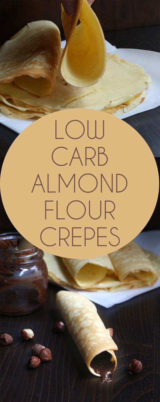 Almond flour low carb crepes
