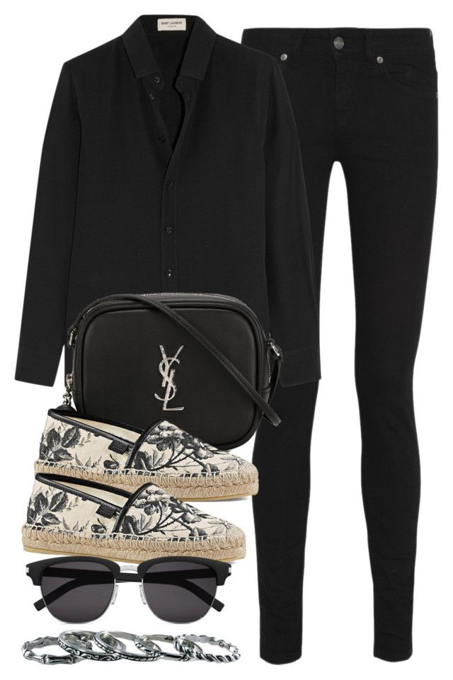 """Style #10220"" by vany-alvarado ❤ liked on Polyvore featuring Yves Saint Laurent, Gucci and Southwest Moon"