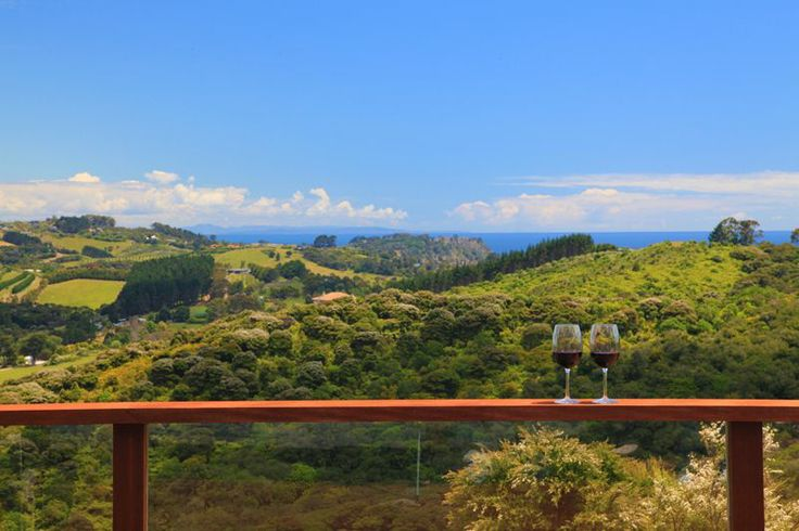 Views overlooking vineyards on Waiheke Island.  With 18 acres, beautiful home with 6 bedroom, three entertaining lounges & guest house