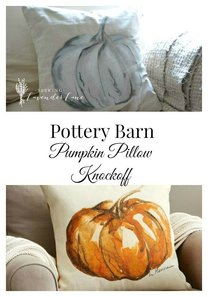 Pottery Barn Pumpkin Pillow Knock Off