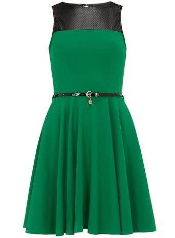Green leather look dress from Dorothy Perkins...it's gorgeous and it could be the start of a Loki cosplay!