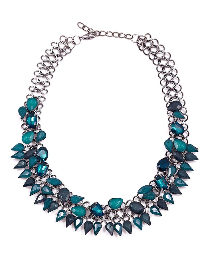 blue necklace www.mischa.ro