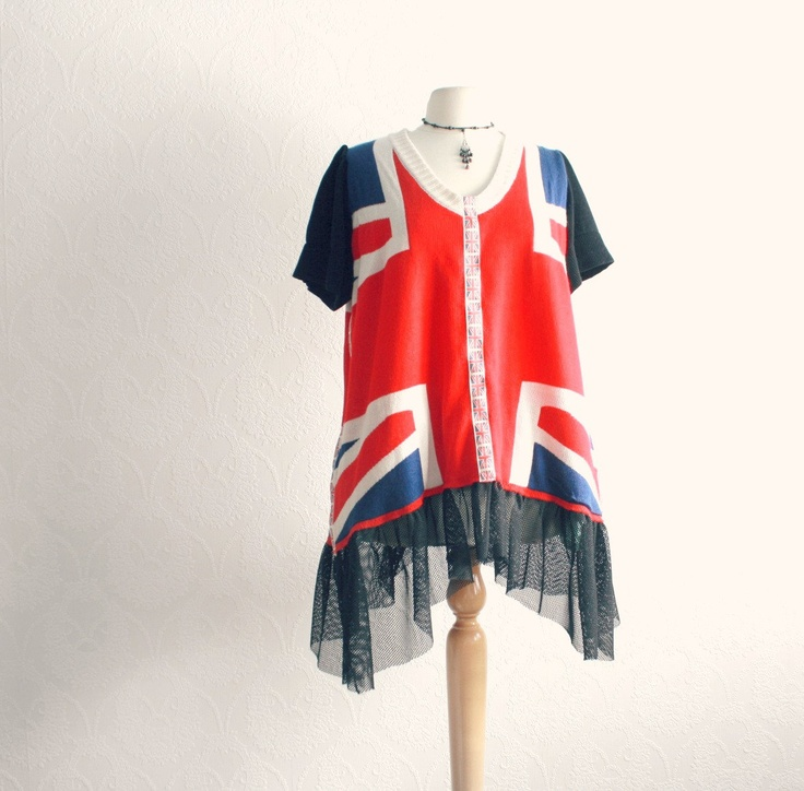 Plus size union jack dress plus