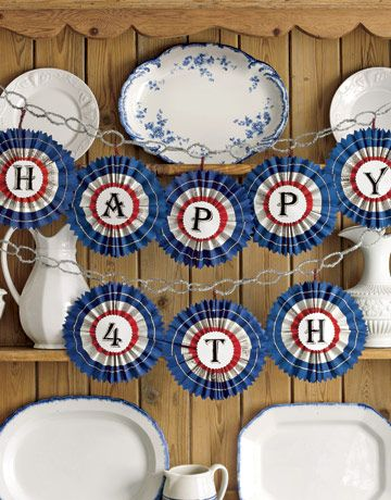 Patriotic banner: July4Th, Crafts Ideas, Fourth Of July, Parties, July Crafts, 4Th Of July, July 4Th, Red White, Banners