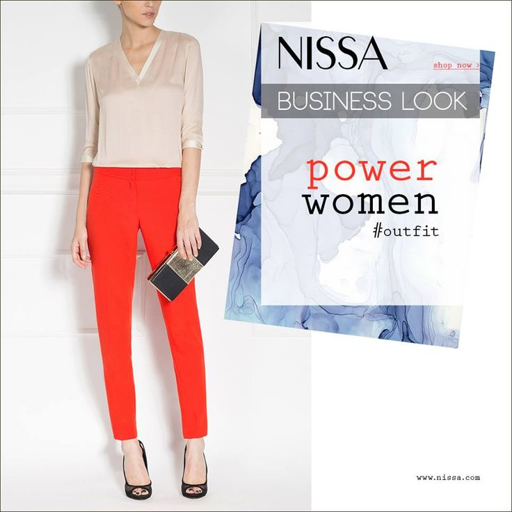 NISSA Business Look - Power Women Outfit www.nissa.com   #nissa #power #woman #outfit #look #trousers #red #bold #strong #success #business #style #stylish #fashion #fashionista