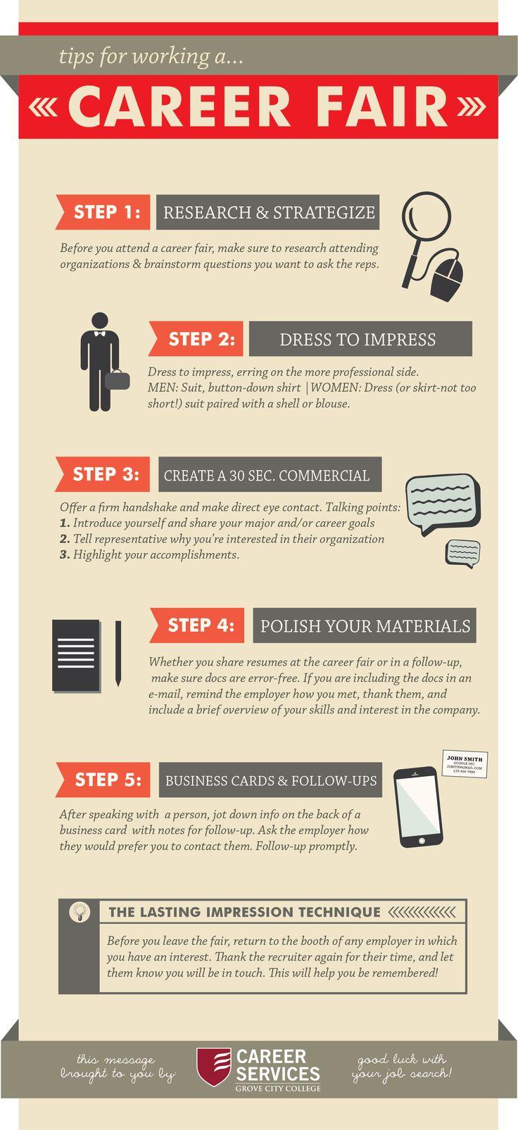 53 Best Career Fair Tips Images On Pinterest Career Fair Tips