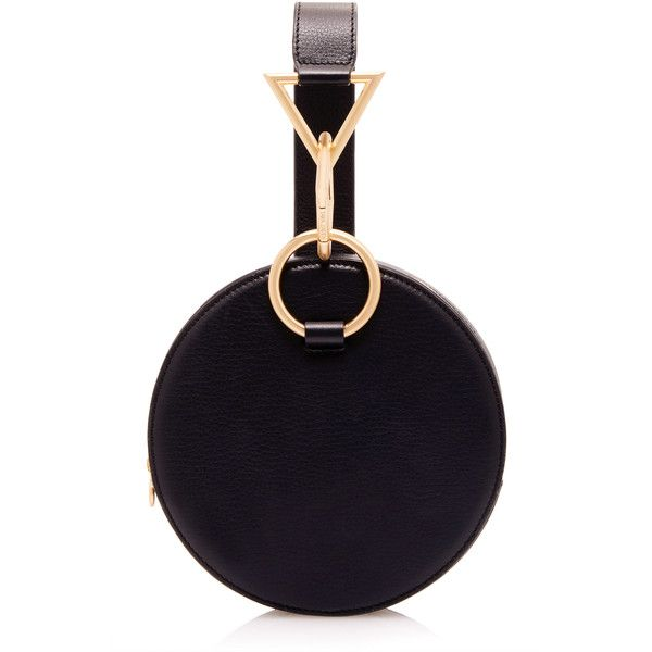 Tara Zadeh Azar Clutch Bag ($570) ❤ liked on Polyvore featuring bags, handbags, clutches, black, circle handbag, circle purse, geometric purse and geometric handbag