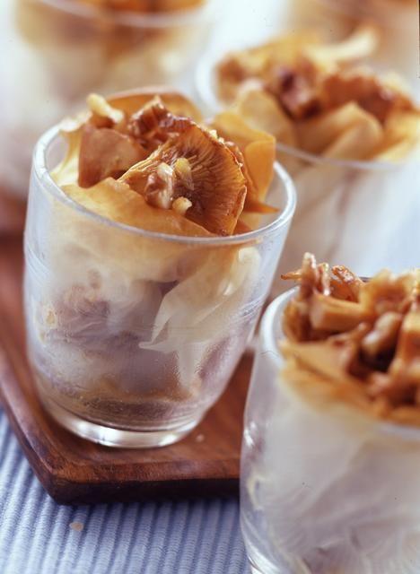 Croustillant de girolles aux noix - Cuisine - Plurielles.fr