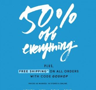 Another chance at 50% off AND free shipping at J. Crew Factory!