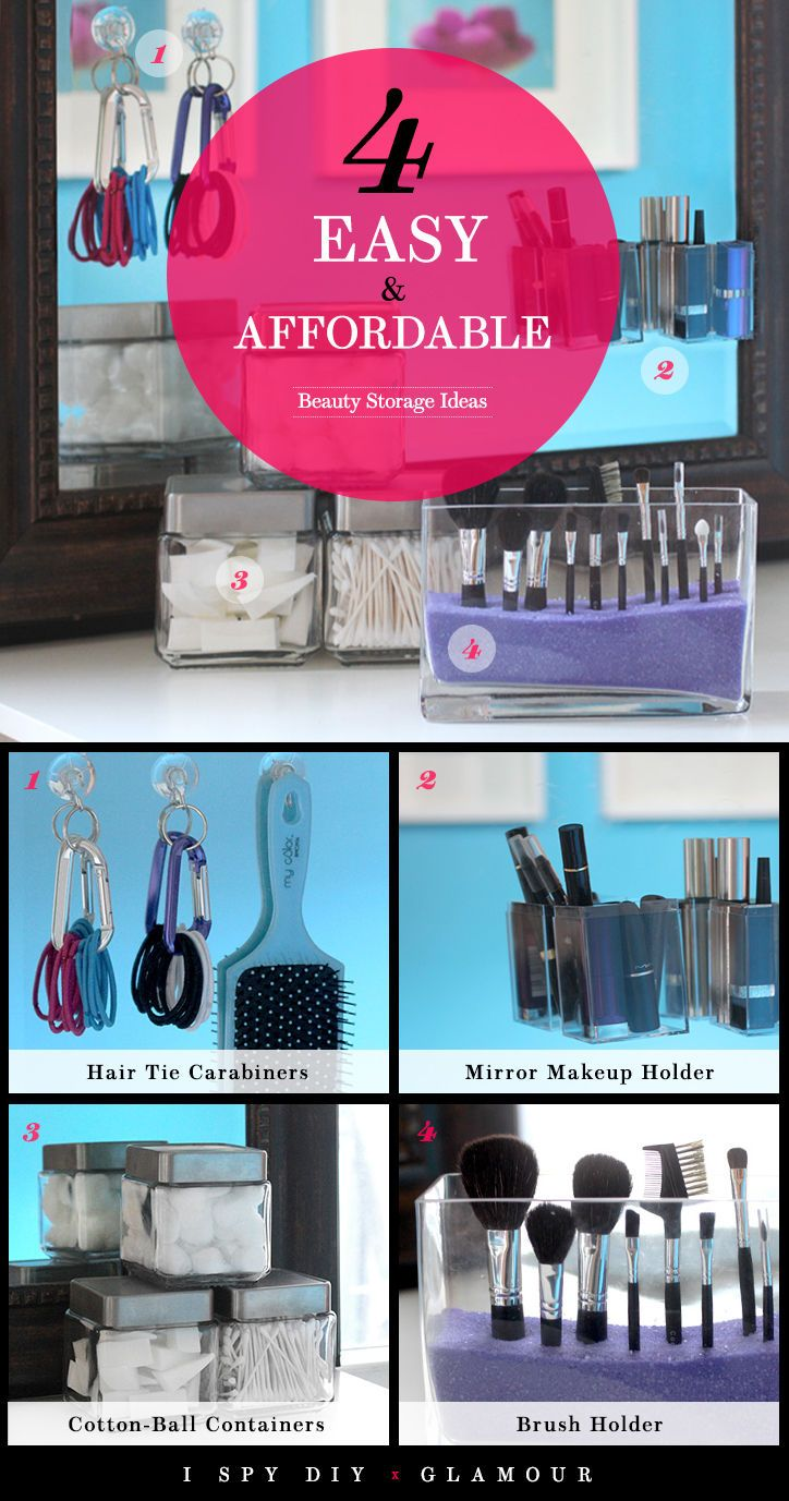 4 Easy and Affordable Beauty Storage Ideas