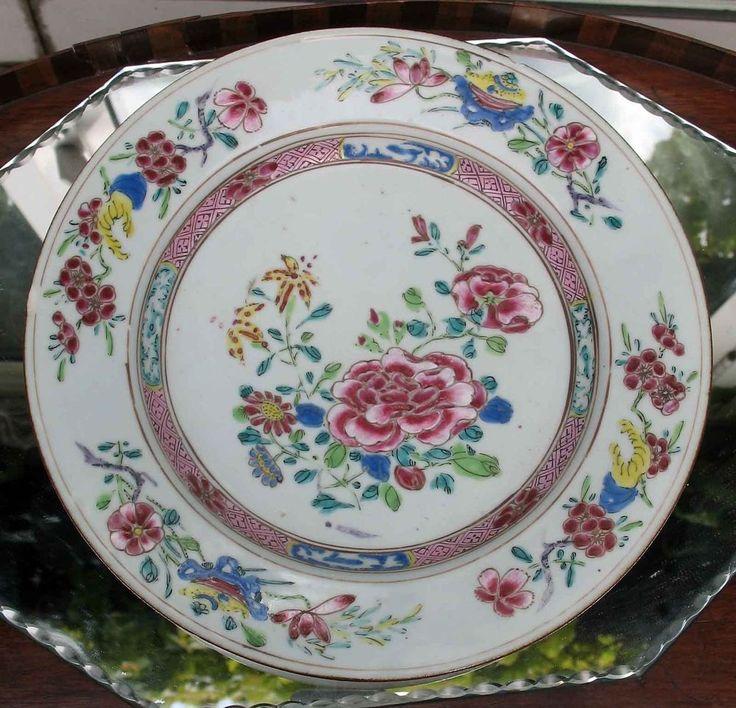 Oriental Porcelain : A Famille Rose Plate - QIANLONG PERIOD 1736 - 1795