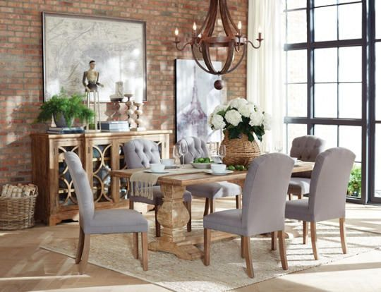The San Rafael Dining Table Is Made Of Solid Mango Hardwood And Finished In Antique Oak It Features A Hand Scalloped X Top Heavy Dual